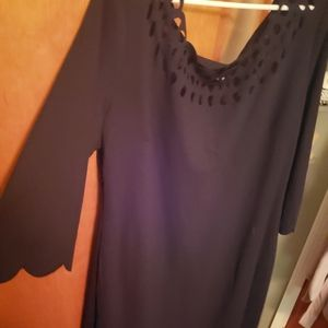 RBG inspired black bodycon dress